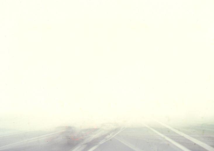 Fog. Highway A 1, Italy