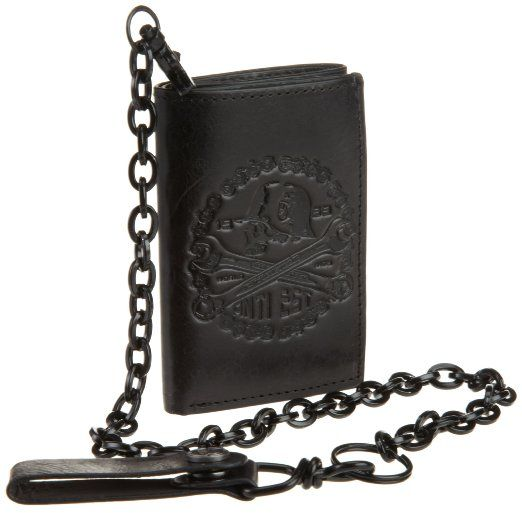 195c2d760bc6 Amazon.com: Metal Mulisha Men's Prison Run Chain Wallet, Black, One ...