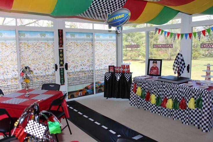 Nascar Race Car Birthday Party Ideas With Images Race Car