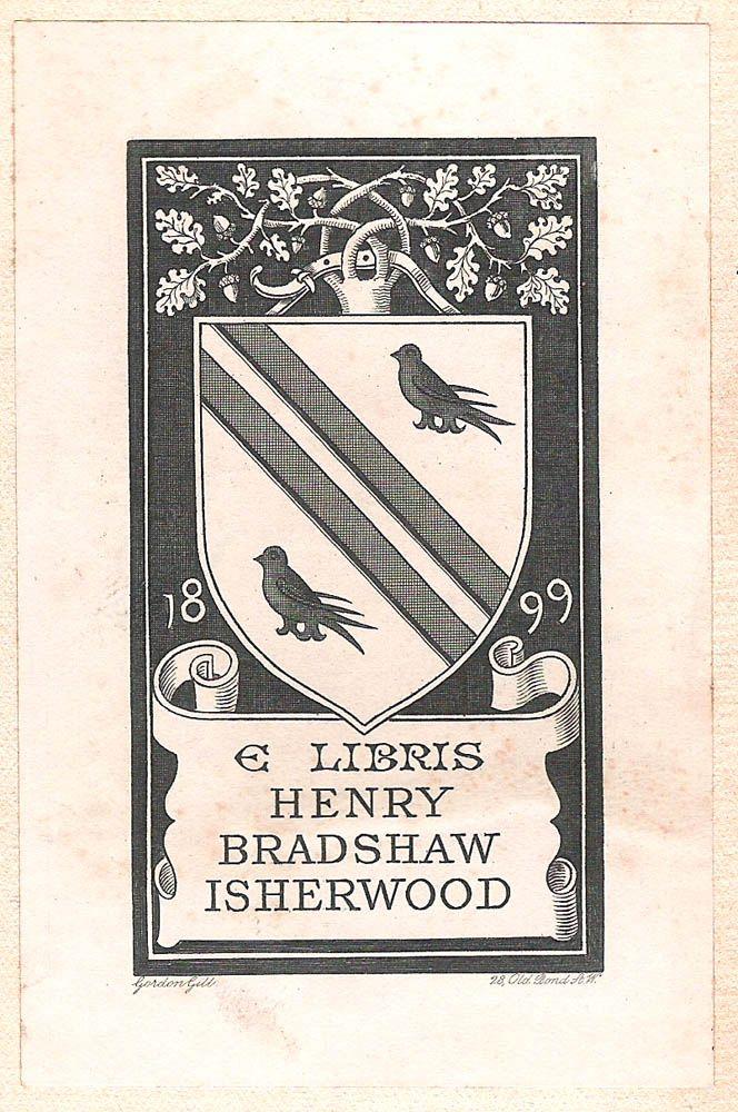 Gordon Gill Armoral Bookplate Of Henry Bradshaw Isherwood 1868 1940 1899