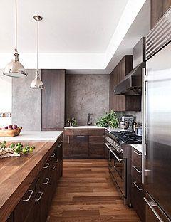 A Dark and Handsome Kitchen