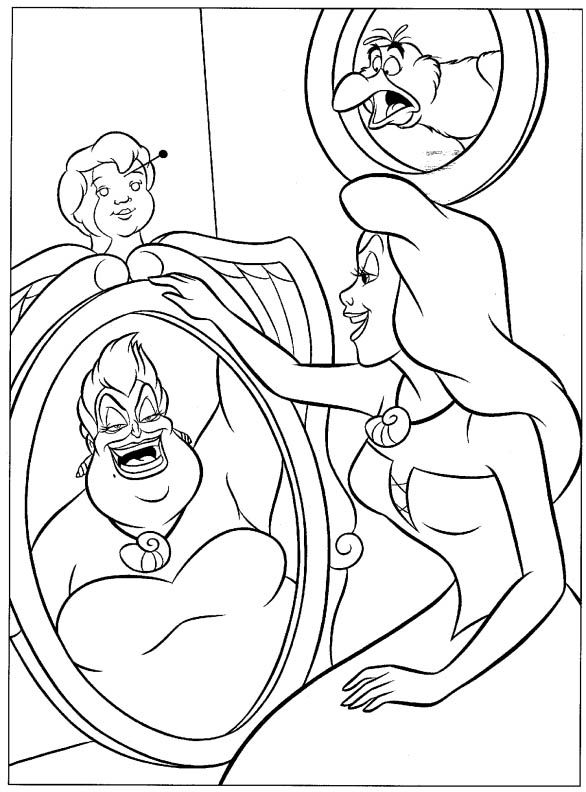 View Little Mermaid 8 Tangled Coloring Pages Ariel Coloring Pages Witch Coloring Pages