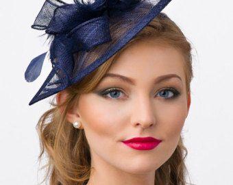 Fascinator negro - Penny malla sombrero fascinador con malla cintas y plumas negras