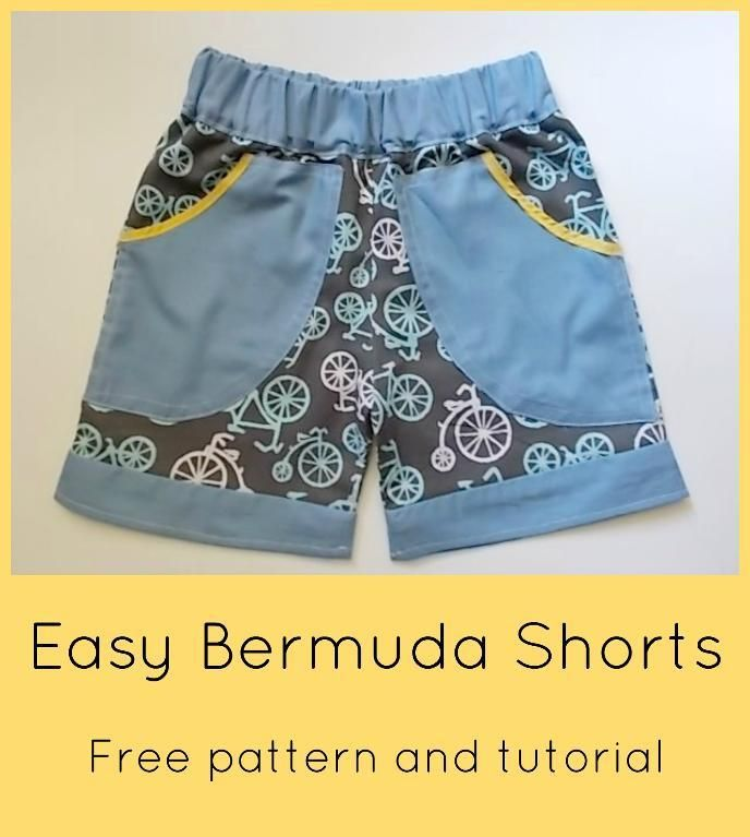 FREE SEWING PATTERNl EASY BERMUDA SHORTS | Pinterest | Freebooks ...