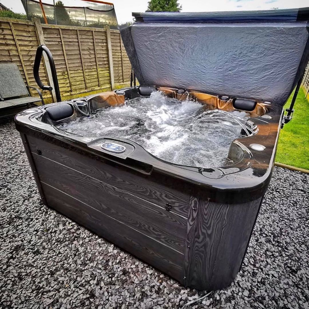 H2o Hot Tubs On Instagram We Absolutely This Spa Which Is In The Gorgeous Colour Of Mayan Copper It S One Of Our Fa Hot Tub Tub Customer Photos