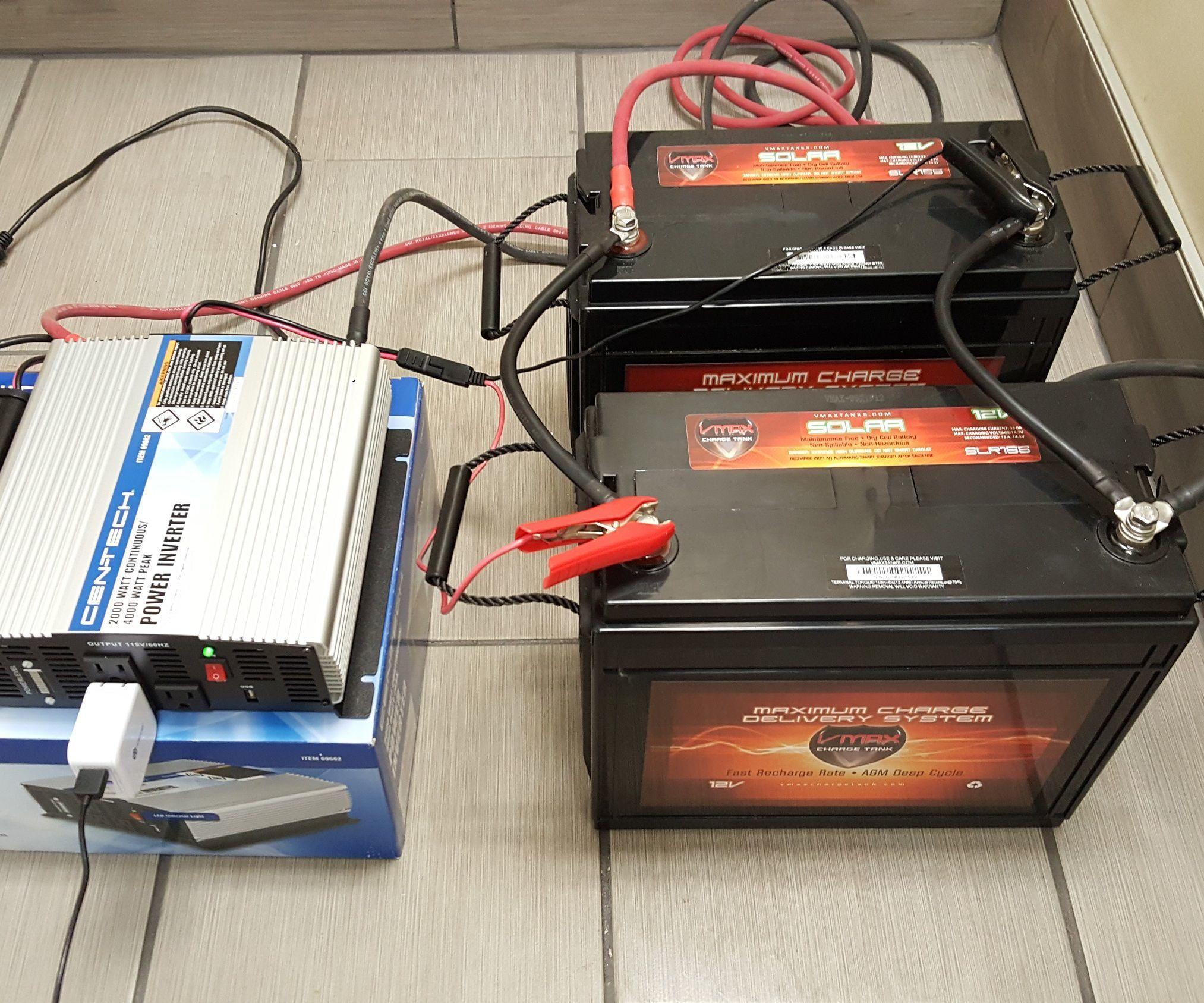Diy size build a battery power backup generator w 12v