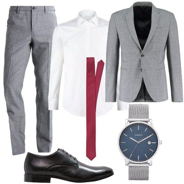 Cravatta fucsia: outfit uomo BusinessElegante per ufficio e