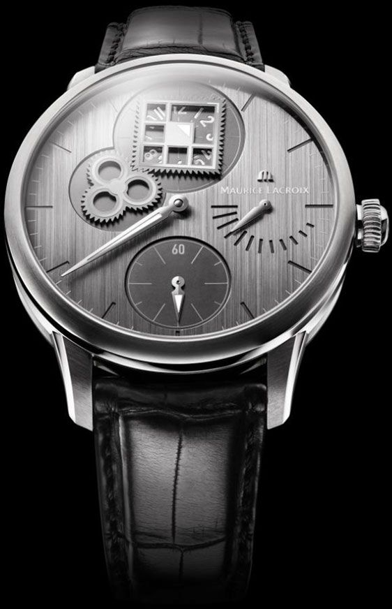 Maurice Lacroix Masterpiece Regulateur Roue Carree #MauriceLacroix Swiss Watchmakers  #horlogerie #pontos @calibrelondon