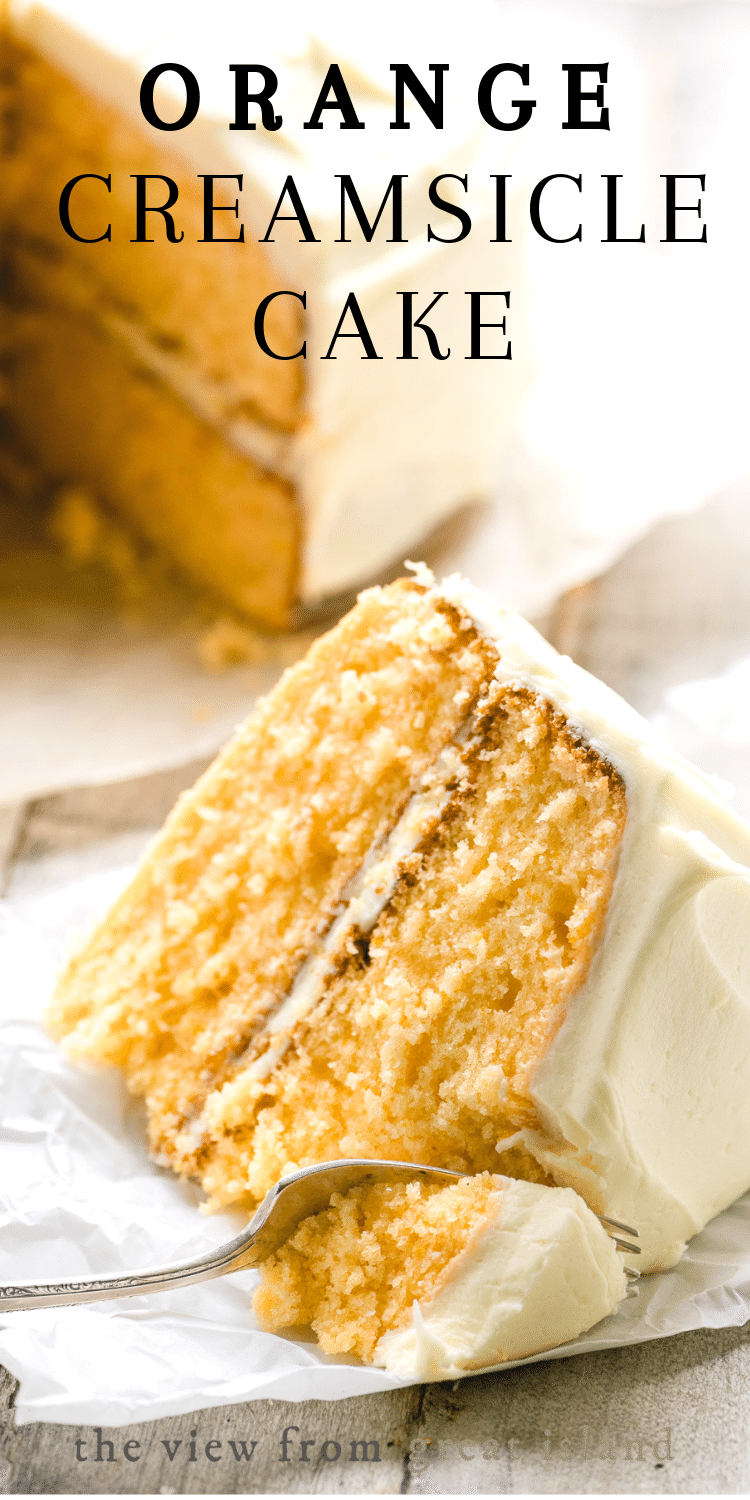 Orange Creamsicle Cake Try With Chocolate Frosting Easy Layer Cake Recipe Dessert Birthday Orange Cr Creamsicle Cake Cake Recipes Orange Cream Cake