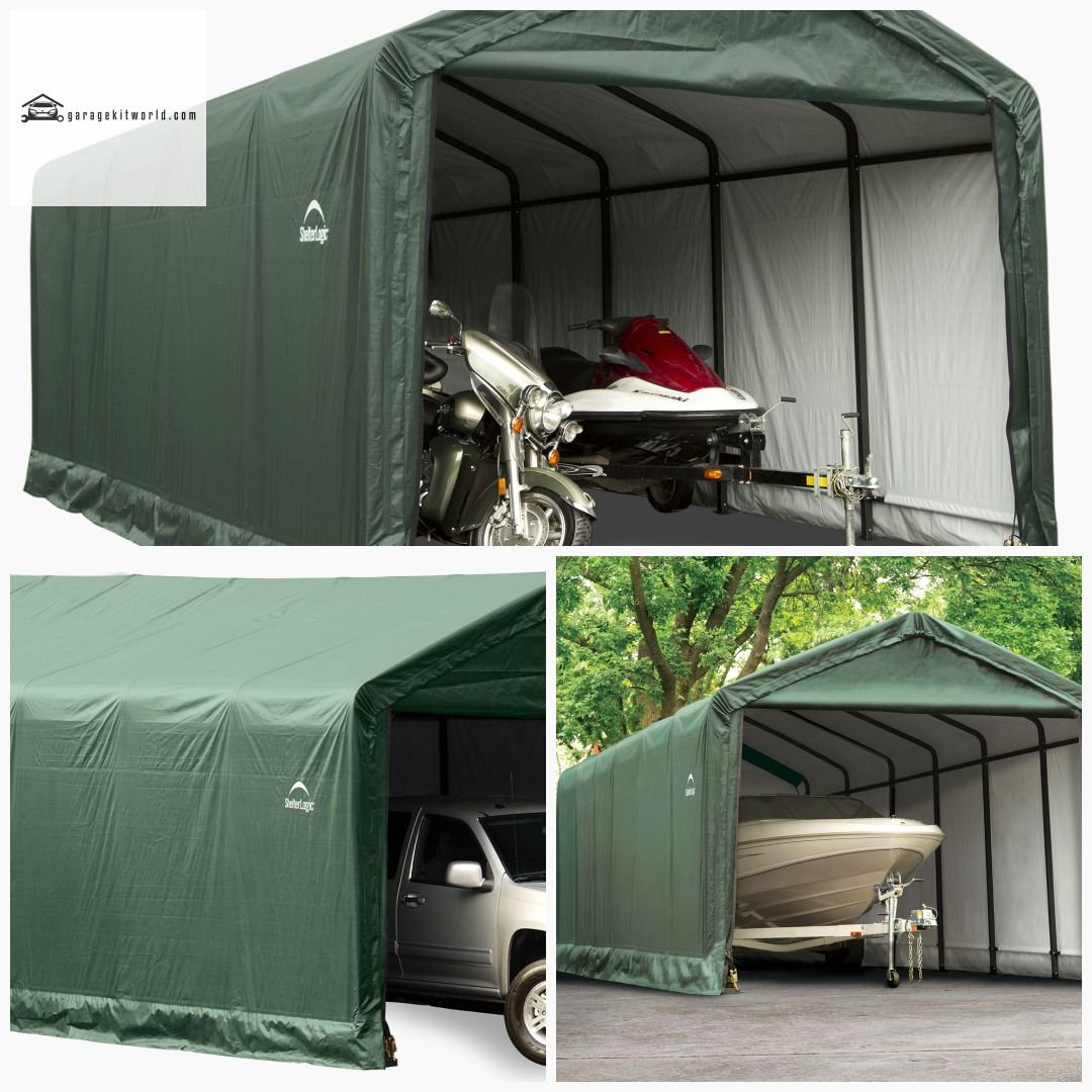 ShelterTube Green 12 x 30 ft. Garage Kit garage carports