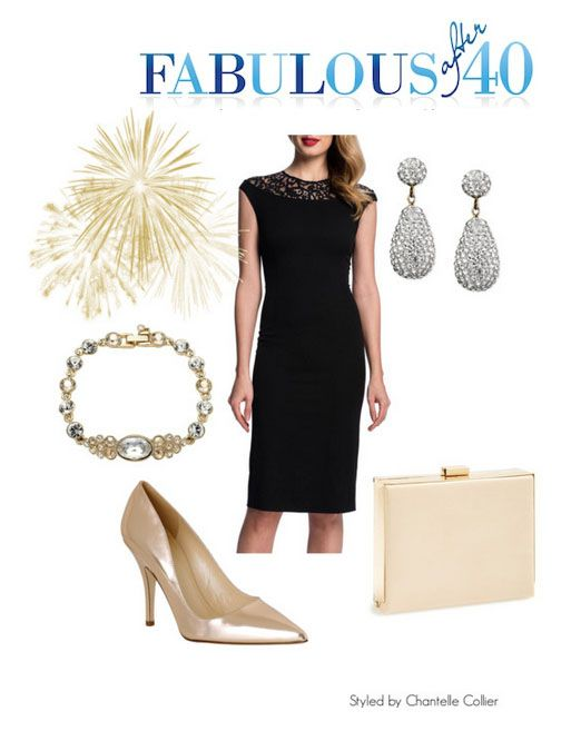 Accessorize black dress for christmas party