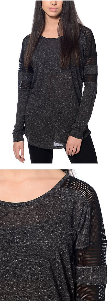 A perfect shirt to lounge in or glam up   Empyre Anita Black Mesh Top