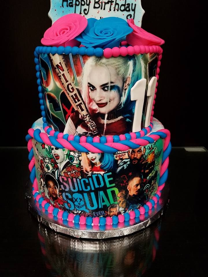 Suicide Squad Cake Character Cakes Pinterest Squad