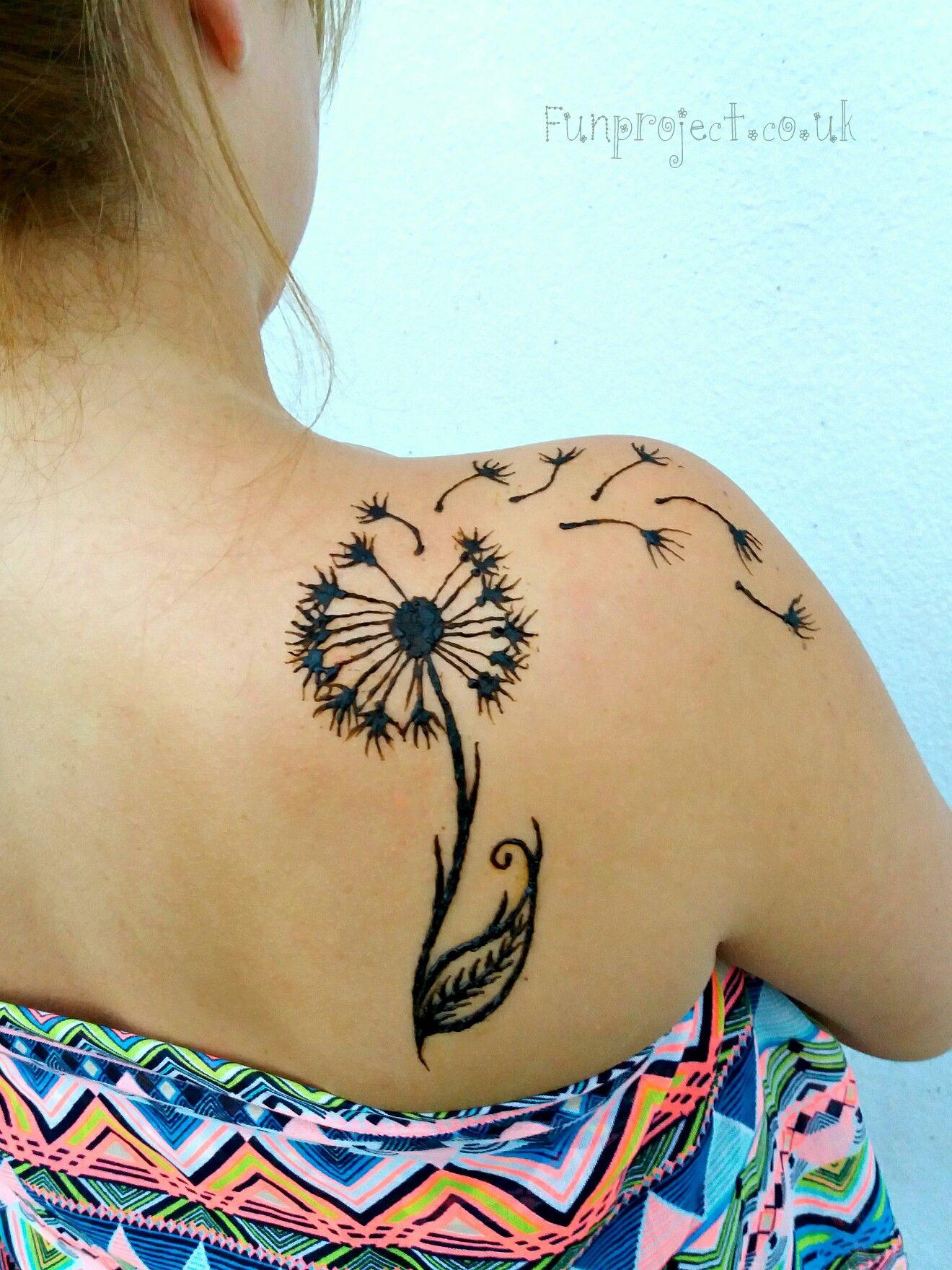 Henna dandelion by jenny rapti of funproject www