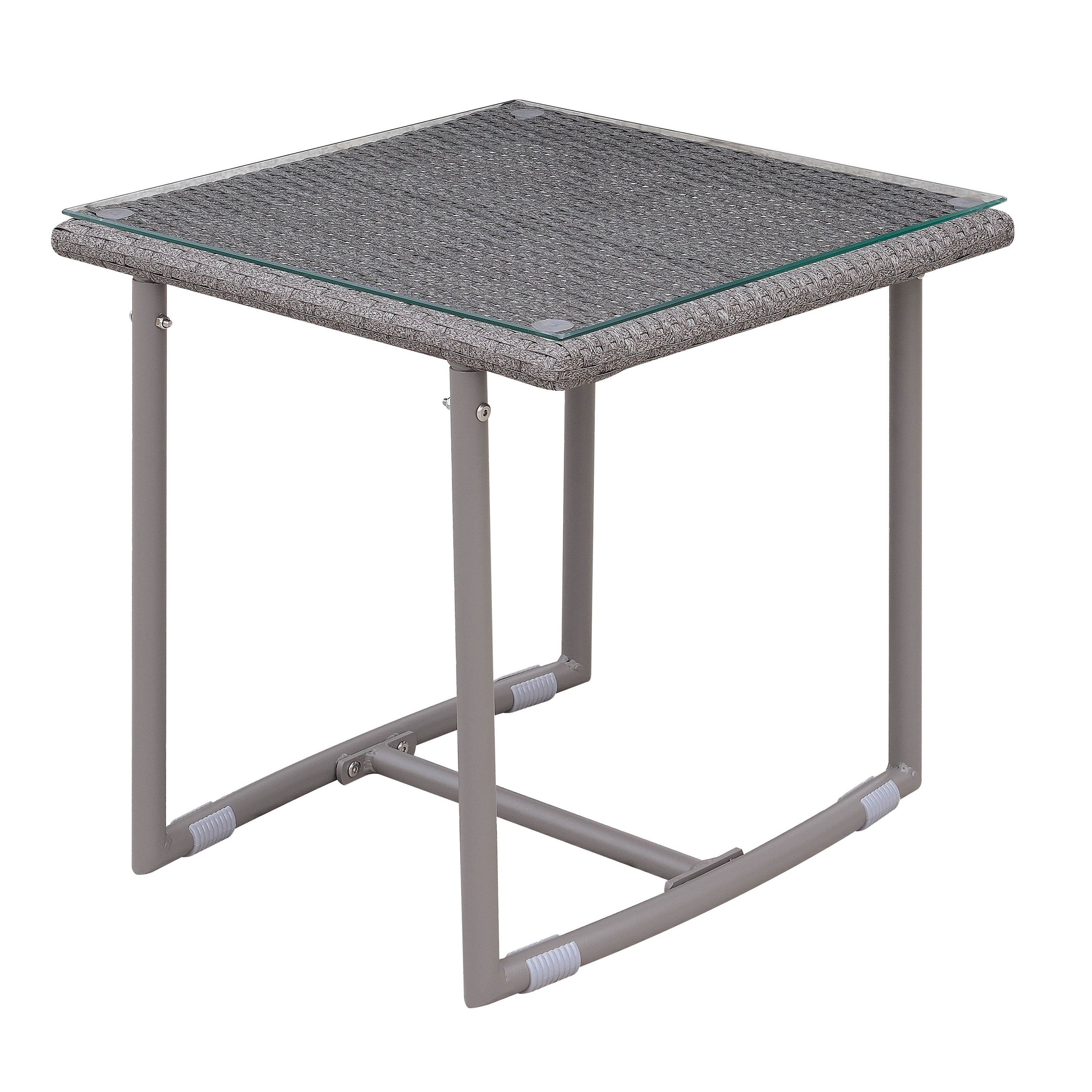 Furniture Of America Anya Contemporary Weather Resistant Patio End
