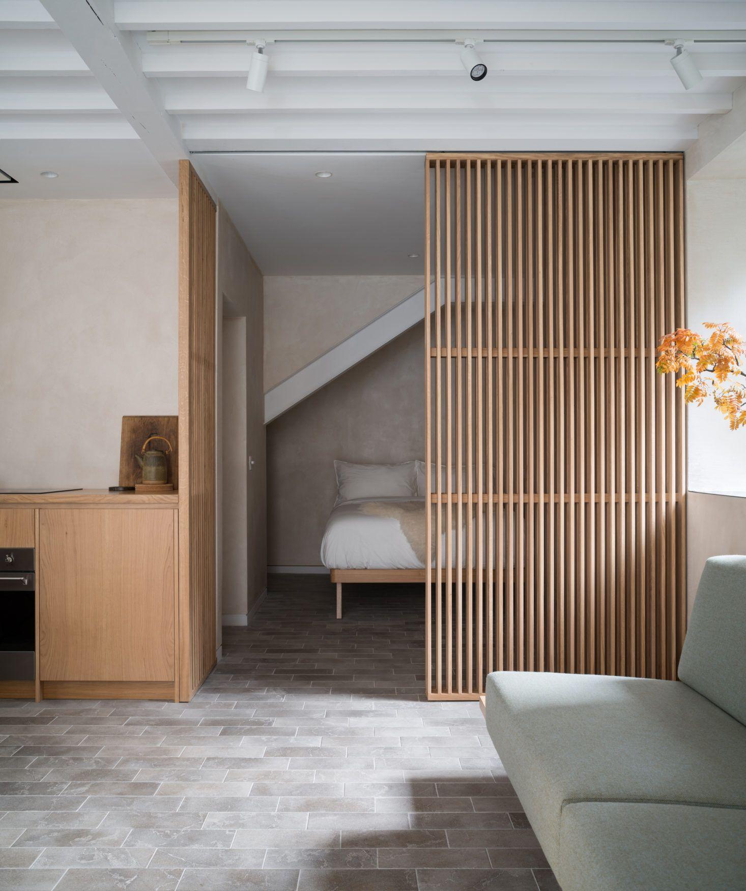 A Garage Converted into a Stylish Studio Apartment: Porteous Studio Vacation Rental in Edinburgh