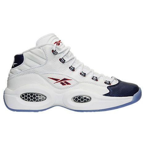 Men's Reebok Question Mid Basketball Shoes - J82534 J82534-WBL| Finish Line