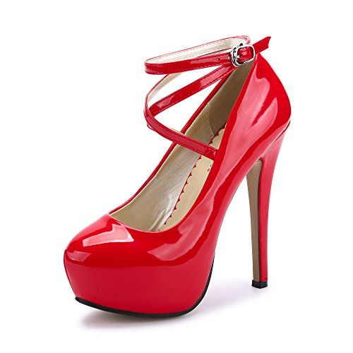 DecoStain Bout Ouvert Femme - Rouge - Red, 43 EU