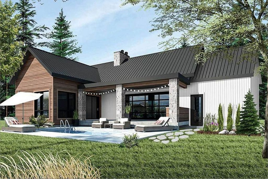 40 Best Modern Cottage Exterior Design And Ideas Farmhouse Style House Plans Ranch Style House Plans Farmhouse Style House
