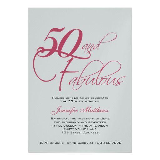 Free Wording For 50th Birthday Invitati Free Printable Birthday
