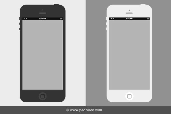 Flat Iphone Wireframe Free Psd Psdexplorer Iphone Mockup Psd Iphone Iphone Mockup