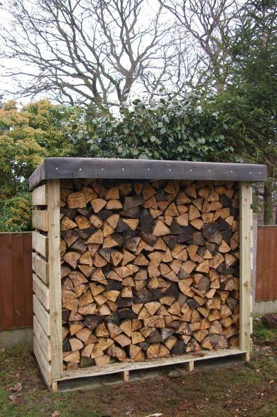 Felt Roofed Pallet Log Shed Outdoor Firewood Rack Firewood Shed Log Shed
