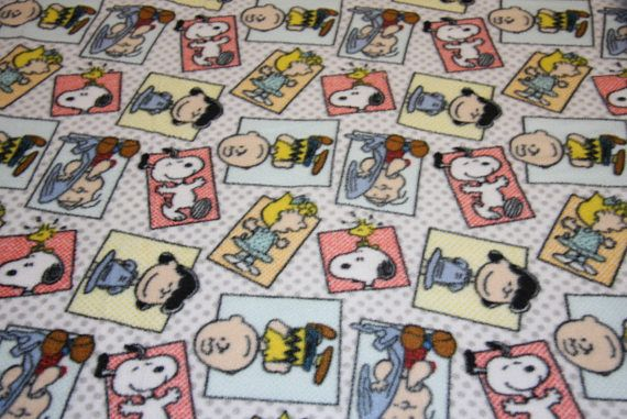 Peanuts gang fleece Snoopy Dog Fleece Dog blanket Fabric Store fleece fabric free shipping available SHIPS FAST Peanuts Licensed fleece F565