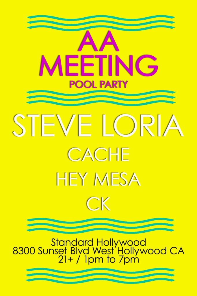 Aa Meeting Pool Party Feat Steve Loria At The Standard Hollywood At The Standard Hotel My Events