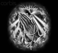 praying hands with rosary - Google Search
