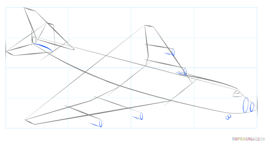 How to draw an airplane   Step by step Drawing tutorials ...