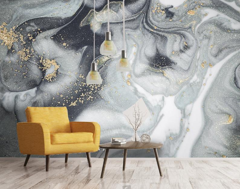 3d Natural Luxury Swirls Marble Texture Wallpaper Removable Etsy Textured Wallpaper Marble Texture Mural