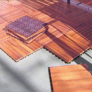 Interlocking Wood Deck Tile Fsc Eucalyptus 10 Pk