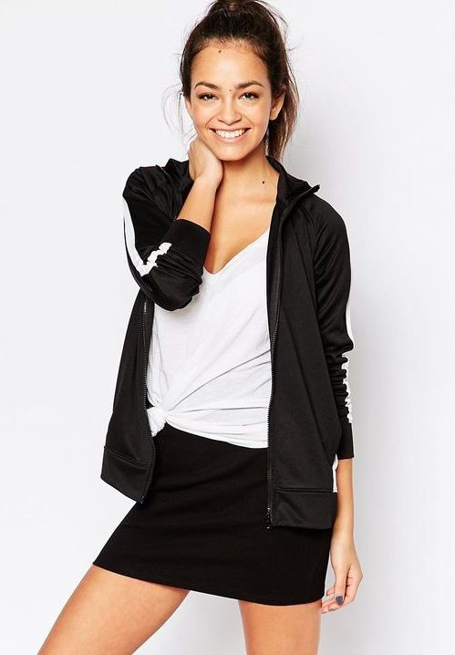 New Look Stripe Zip Through Sweater