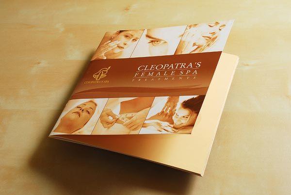 Spa Brochure Design  Brochures    Brochures
