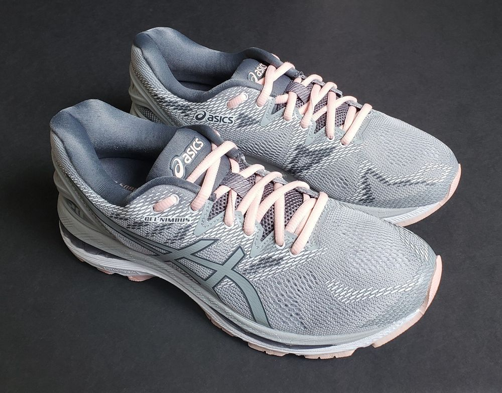 b1b5df6c2e47  160 Asics Gel Nimbus 20 (T850N) Running Shoe in Grey Seashell Pink Womens  9  fashion  clothing  shoes  accessories  womensshoes  athleticshoes (ebay  link)