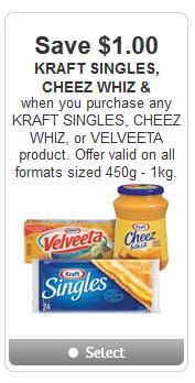 graphic about Cheez It Coupon Printable known as Kraft Singles Cheese Whiz Conserve $1 off printable coupon