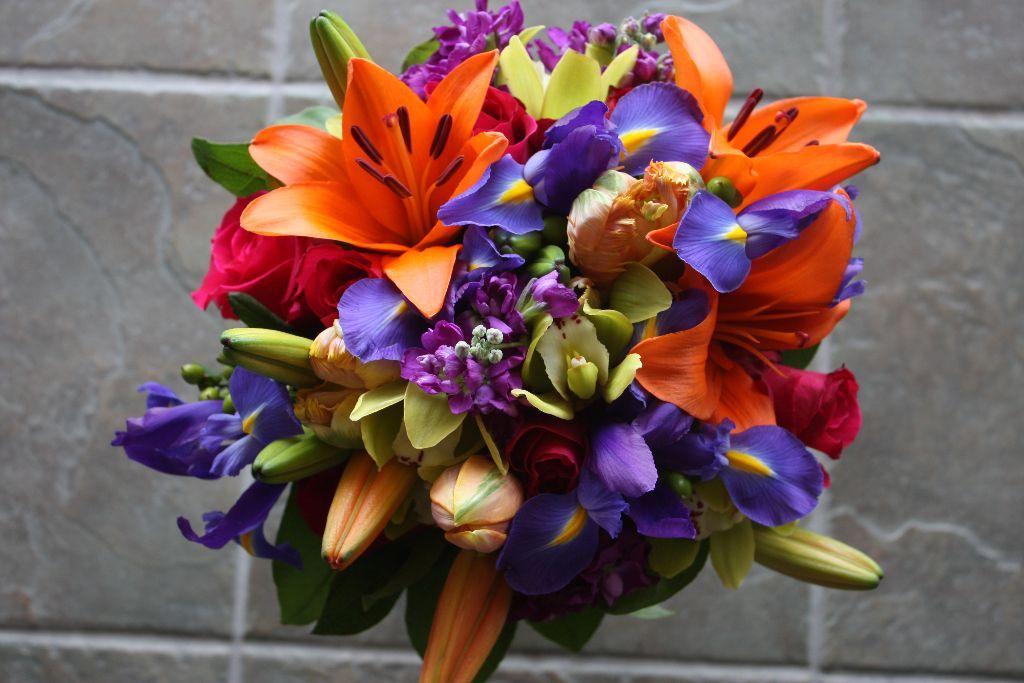 Bright Bridal Bouquets Bella Rosa Floral Design Wedding Flowers Fall Flowers Flower Market