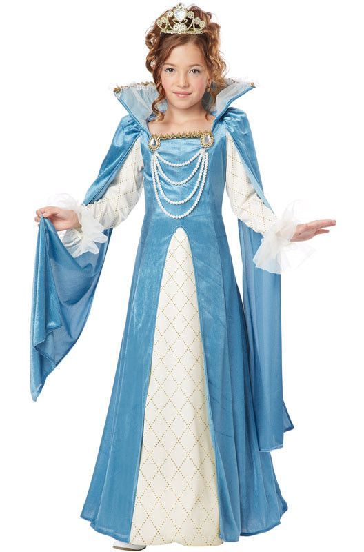 renaissance queen costume dress child