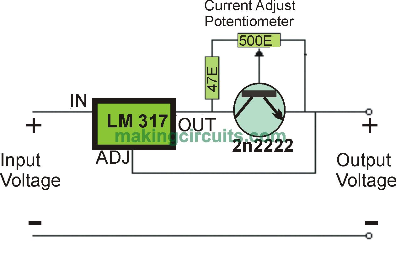 Simple Adjustable Current Control Circuit Miro Pinterest Lm317 Led Driver
