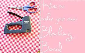 A Creative Dimension: Make Your Own Blocking Board