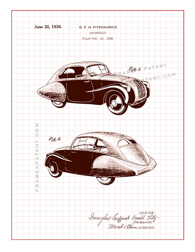 Pin by Frame a Patent on Automobile Patent Prints (With