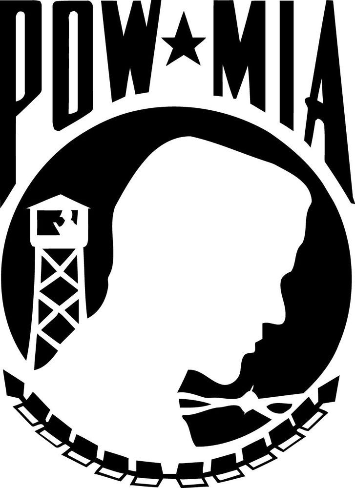 POW MIA Military Decal Sticker Graphic for Car Truck SUV Window 2 Sizes