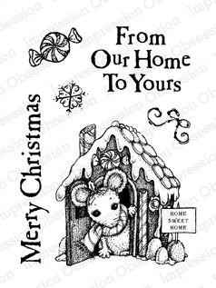 Impression Obsession Rubber Stamps Clear Stamp Set - From Our Home