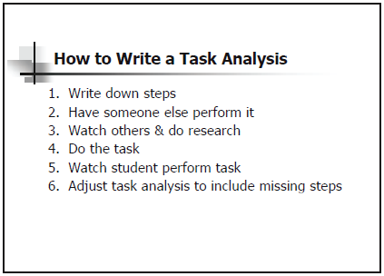 How To Write A Task Analysis  Education    Aba Autism