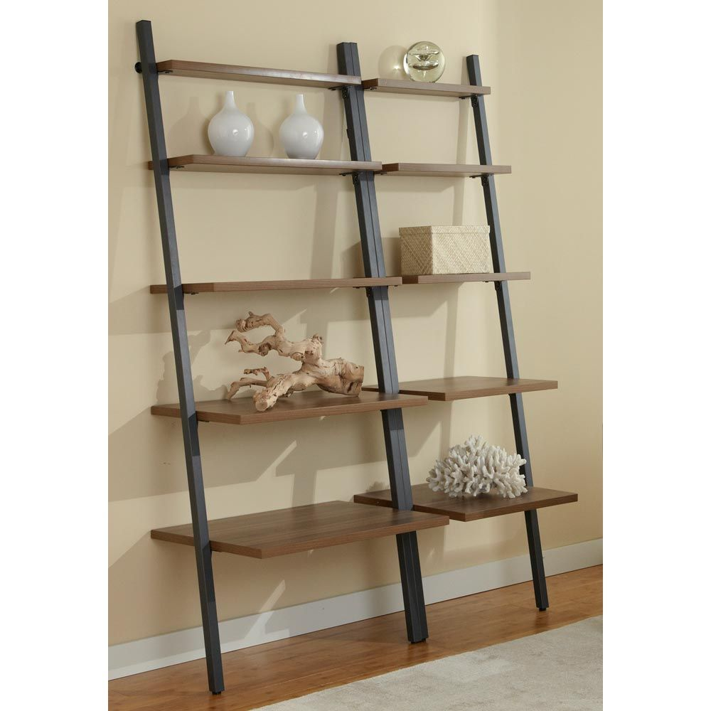 Found it at www.dcgstores.com - ♥ ♥ Parson Ladder Bookcase Set - Steel Frame, Walnut ♥ ♥