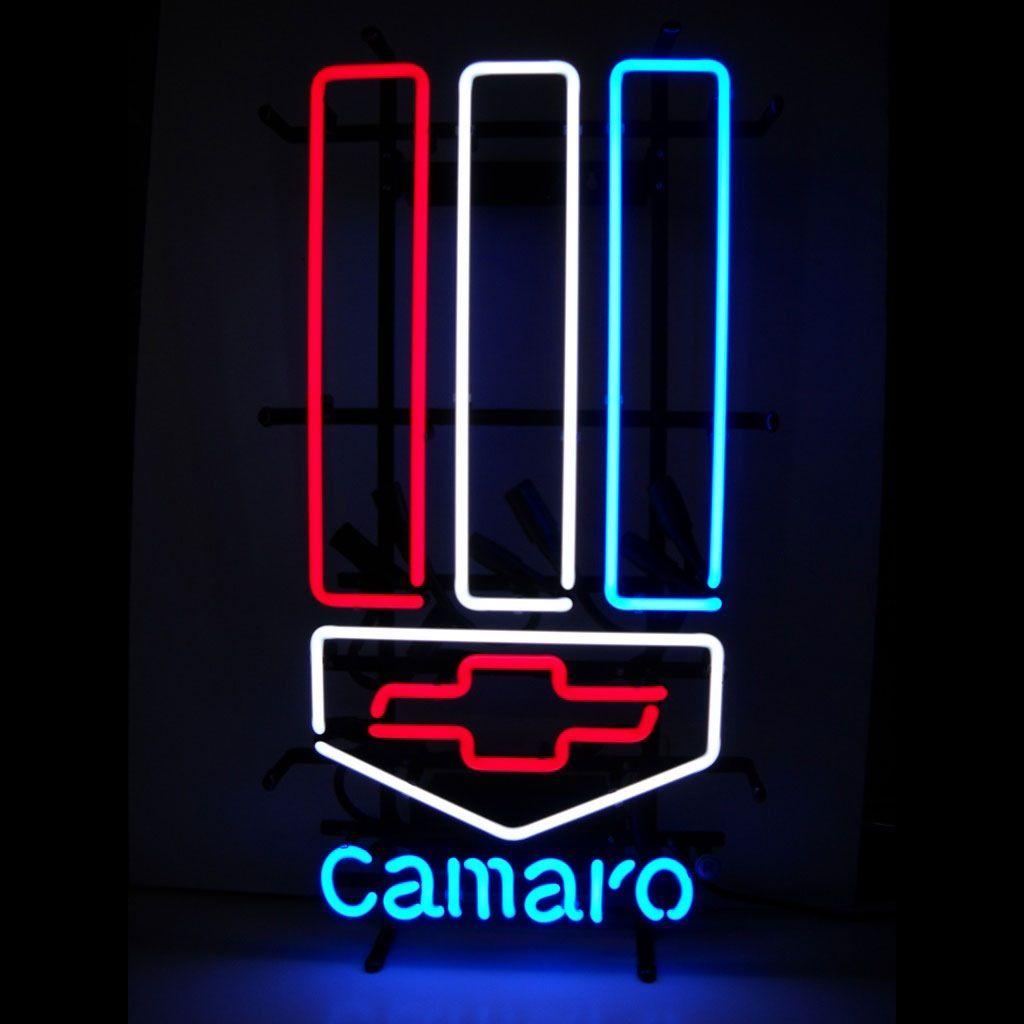 Chevy Camaro Logo Neon Sign Chevy Logos Advertising