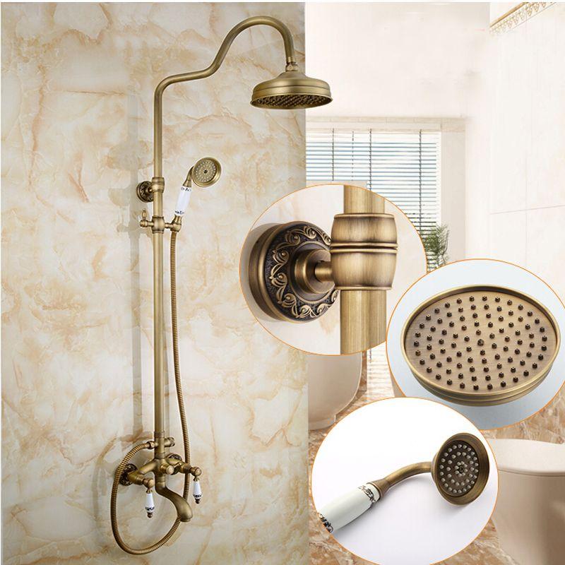 Wholesale And Retail Classic Antique Brass Bathroom Rain Shower Head ...