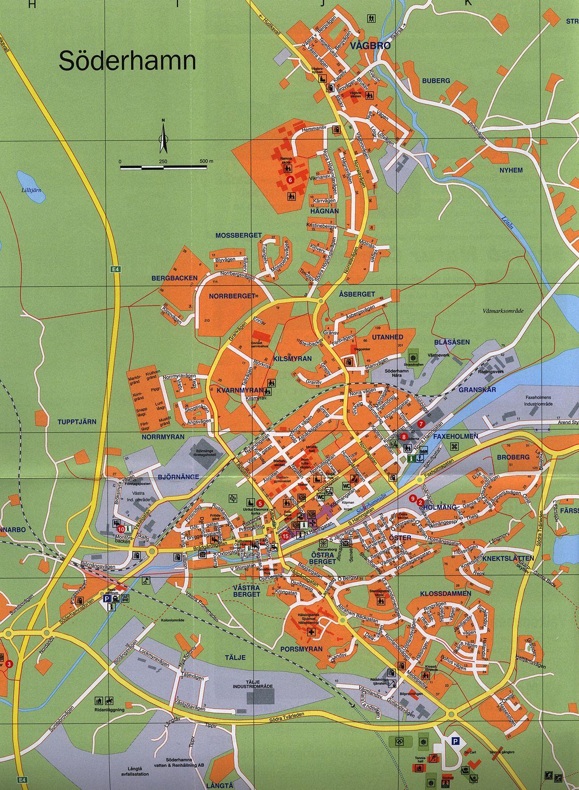 marma karta Söderhamn Karta Map Karte 2015_2; Gavleborg, Sweden marma karta