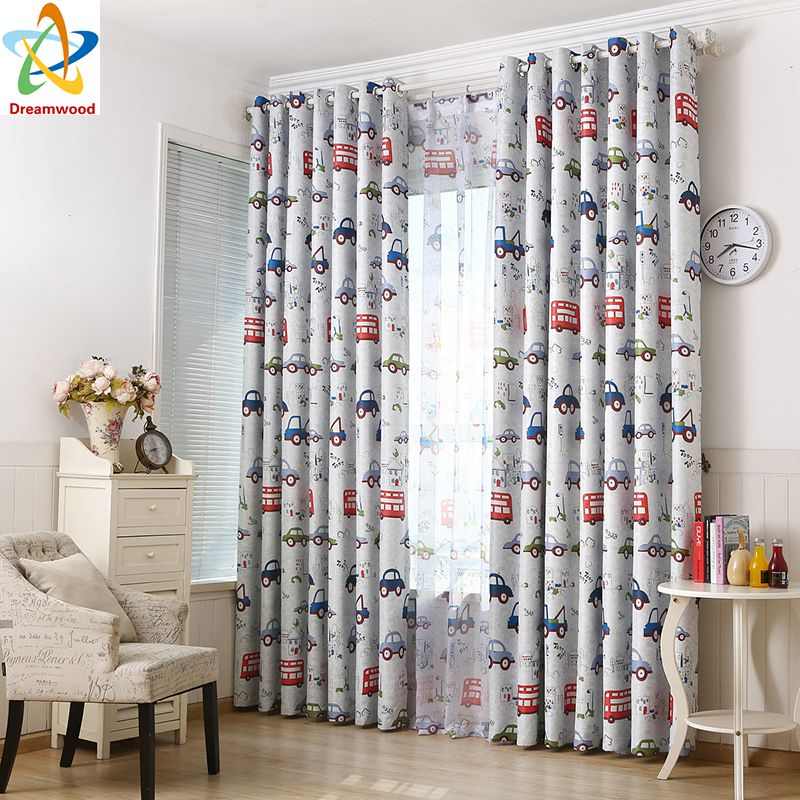 Dreamwood 100% polyester Small Car Printed blackout Curtains with ...