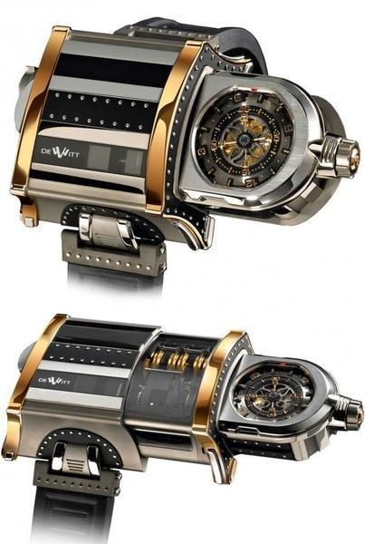 I found 'Ultimate in Steampunk Accessories: The DeWitt 'WX-1' Telescoping Wristwatch' on Wish, check it out!
